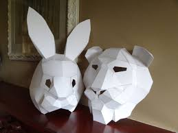 pdf pattern make your own lion mask rabbit mask instant download