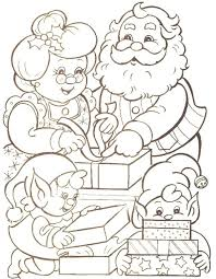 families santa claus christmas coloring pages printable