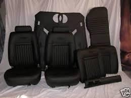 Fox Body Black Interior 87 93 Ford Mustang Seats Upholstery Kit Interior Black Gt Lx 5 0