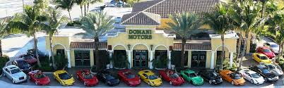 exotic car dealership domani motor cars inc serving deerfield beach fl