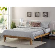 Rustic Pine Nightstand Zinus Solid Wood Platform Bed Rustic Pine Multiple Sizes