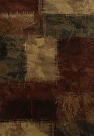 Area Rugs For Cabins Baritone Abstract Pattern 5x8 Rug In Earthtones