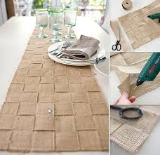 make your own table runner diy jute table runner apartment therapy