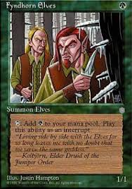 fyndhorn elves age magic the gathering gaming