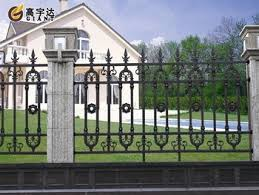low price high quality house gate design and steel fence View