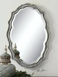 White Oval Bathroom Mirror Wall Mirrors Luxury Frameless Large 28 Oval Wall Mirror