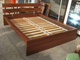 100 wood queen bed frame rails platform bed walnut mid