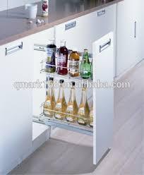 metal cabinet pull out drawer side slide kitchen cabinet basket