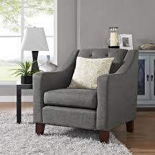 Tufted Upholstered Chairs Dorel Living Threshold Tufted Upholstered Armchair Dunes Gray