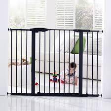 Large Pressure Mounted Baby Gate Brica Easy Close Tall U0026 Wide Metal Gate Brica Babies