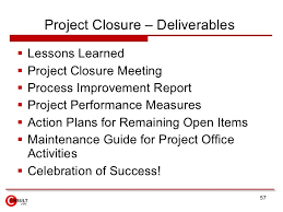 project closure report template ppt project management office pmo