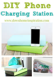 diy phone charger diy phone charging station disguised as books down home inspiration