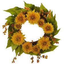 sunflower wreath 22 golden sunflower wreath nearly