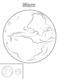 mars planet coloring free printable coloring pages