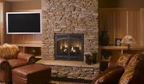 astounding bright stone fireplace surround design with