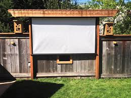Backyard Projector Fun Idea Pergola Bird Feeding Movie Theater Awesome Outdoor