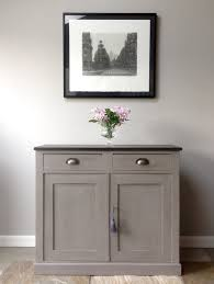 Kitchen Sideboard Cabinet by Painted Sideboard With Wooden Top Dark Grey Sideboards