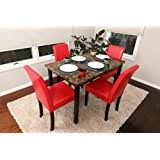 Red Kitchen Table And Chairs Amazon Com Red Kitchen U0026 Dining Room Furniture Furniture