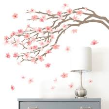 pink cherry blossom tree wall decal kirklands