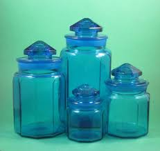 blue kitchen canister set vintage cobalt blue glass canisters cobalt blue glass canister set