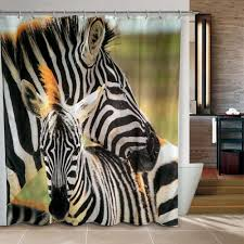 Zebra Bathroom Decorating Ideas by Zebra Shower Curtain Pattern For New Bathroom Design With Luxury