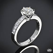 engagement rings diamond classic bead set diamond engagement ring 1006