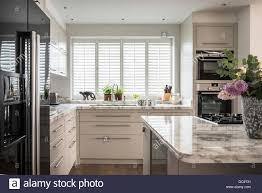 open plan modern kitchen designed by stepahnie dunning stock photo