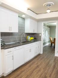 White Galley Kitchens Home Design Dark Laminate Wood Flooring With Regard To House White