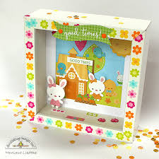 doodlebug design inc blog bunnyville collection shadowbox framed