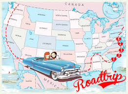 road trip map of usa road trips the best way to experience the us traveling to usa