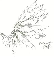 image result for mechanical wings sketches pinterest tattoo