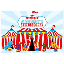 circus tent carnival dessert cake table personalized party