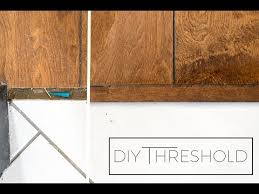 how to your own threshold from leftover flooring