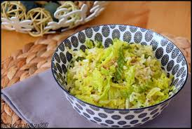 comment cuisiner chou vert riz au chou vert épicé mes petits délices
