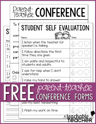 Tips On Resume Writing Teachers Parent Teacher Conference Form Free Checklist Template