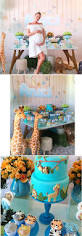 Wild Safari Blue Baby Shower by Glamorous Celebrity Baby Showers