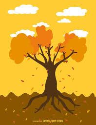 imagenes animadas de otoño dibujos animados de árboles de otoño descargar vector