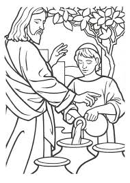 toddler coloring page for day 5 of homeown nazareth miracles of