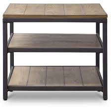 caribou wood and metal end table baxton studio target