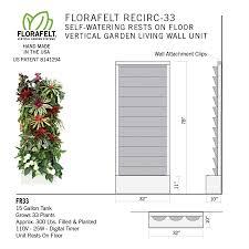 florafelt recirc 33 vertical garden system