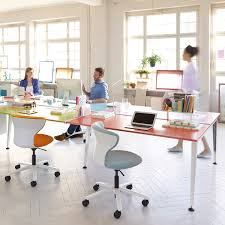 Office Furniture Solution by Get Together Bench Desks Is The New Workstation Solution For The