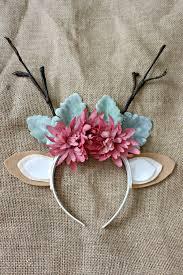 deer headband diy floral deer antlers headband