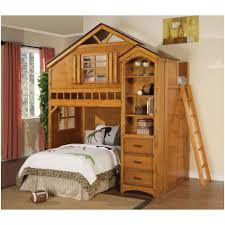 bunk bed with desk underneath plans bedroom rustic loft bed loft bed with desk and storage plans