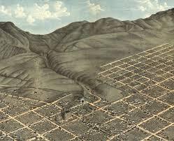 Bird View Map Salt Lake City Utah In 1870 Bird U0027s Eye View Map Aerial