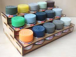 modular paint bottle rack holds 15 tamiya acrylic paints ebay