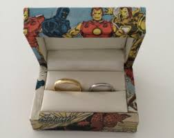 Superhero Wedding Rings by Ring Bearer Pillows Etsy Uk