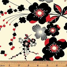 moon flower quilt fabric with flowers by benartex in