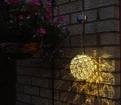 solar hanging light decorate you garden with