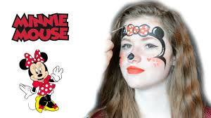 Minnie Mouse Halloween Makeup by Minnie Mouse Face Painting Tutorial Splash Animaties Youtube
