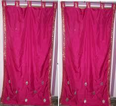 Sari Fabric Curtains Custom Made Sari Curtains In 250 Color Choice